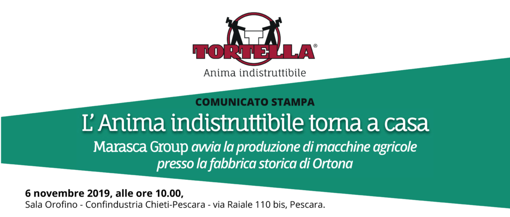 """Comunicato stampa """"Tortella, l' Anima indistruttibile torna a casa""""."""